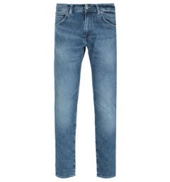 Edwin ED-85 Slim Tapered Drop Crotch Blue Tamiko Wash Denim Jeans