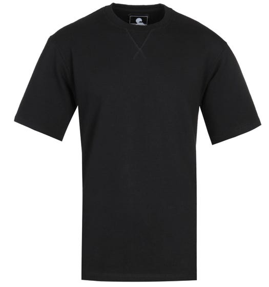 Edwin Short Sleeve Black Crew Neck Sweatshirt