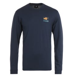 Edwin Injured Long Sleeve Navy T-Shirt