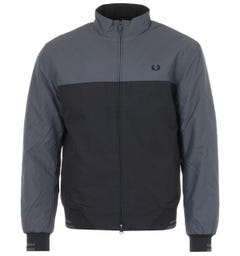 Fred Perry Brentham Colour Block Padded Jacket - Charcoal