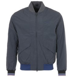 Fred Perry Quilted Bomber Jacket - Charcoal