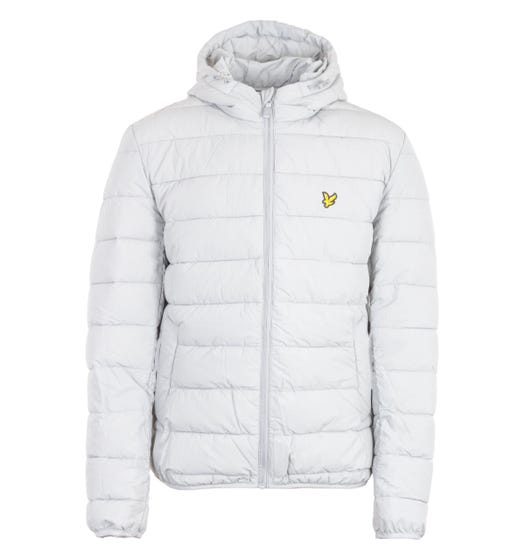 Lyle & Scott Recycled Nylon Lightweight Puffer Jacket - Grey Fog