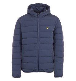 Lyle & Scot Recycled Nylon Lightweight Puffer Jacket - Dark Navy
