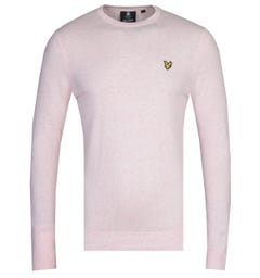 Lyle & Scott Strawberry Cream Marl Cotton Merino Sweater
