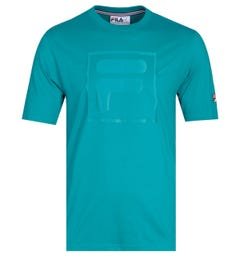 Fila Tonal Twill Box Logo Harbour Blue T-Shirt