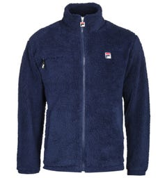 Fila High Funnel Neck Navy Sherpa Jacket
