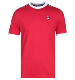 Fila Woven Taping Red T-Shirt