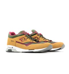 New Balance 1500 Made in England Leather Trainers - Sand & Green