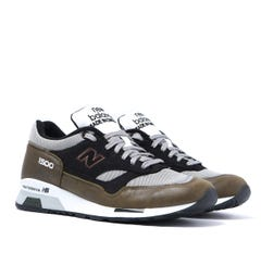 New Balance Made in UK M1500 Army Green With Black Leather Trainers