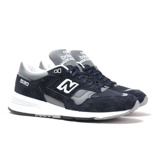 New Balance 1530 Made in England Navy & Grey Suede Trainers