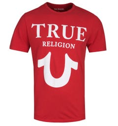 True Religion Puff Logo Print Red T-Shirt