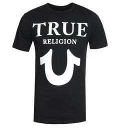 True Religion Logo Black Crew Neck T-Shirt