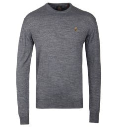Luke 1977 Gerald 3 Mid Marle Grey Merino Knit Sweater