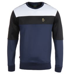 Luke 1977 Loki Colour Block Sweatshirt - Navy