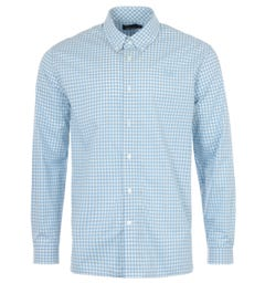 Fred Perry Gingham Long Sleeve Shirt - Sky Blue