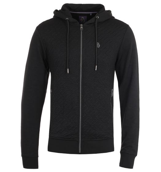 Luke 1977 Ellbent Black Zip Hooded Sweatshirt
