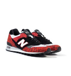 New Balance Made In England M577 Checkered Red & Black Trainers