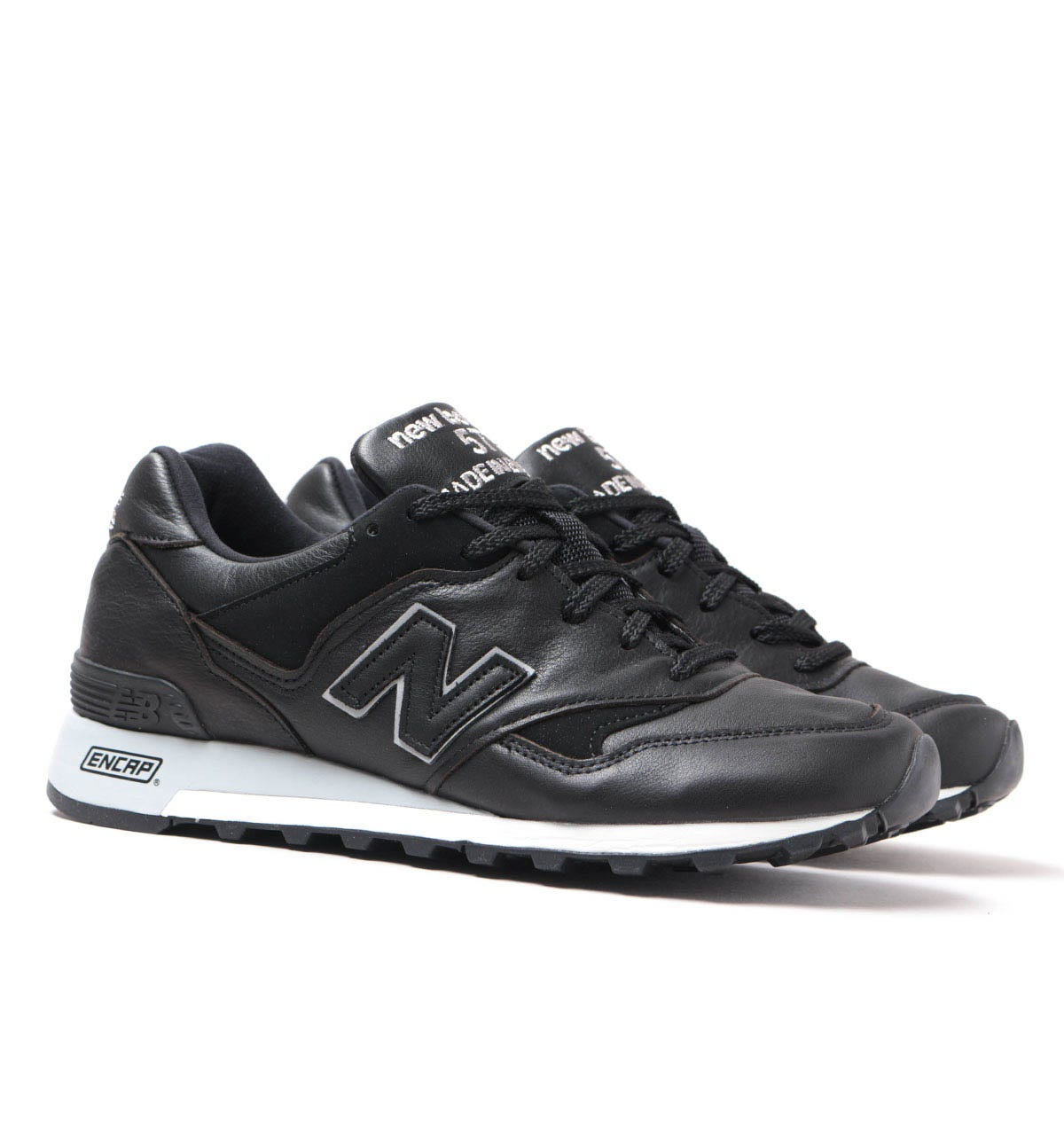 leather new balance trainers
