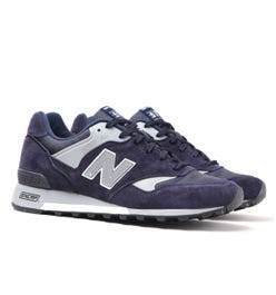 New Balance Made In England M577 Navy Suede Trainers