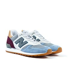 New Balance 670 Made In England Blue, White & Purple Trainers