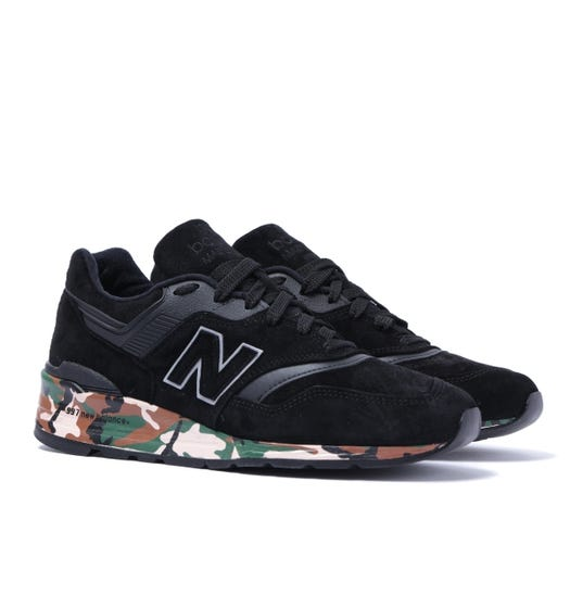 New Balance 997 Made in the USA Black & Camo Trainers