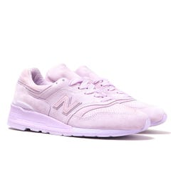 New Balance M997 Pink Suede Trainers