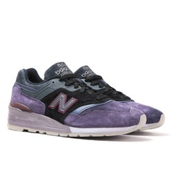 New Balance M997 Purple & Black Suede Trainers