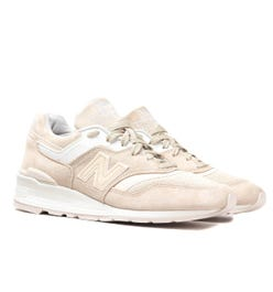New Balance M997 Beige Suede Trainers