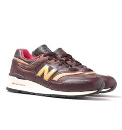 New Balance M997 Brown Leather Trainers