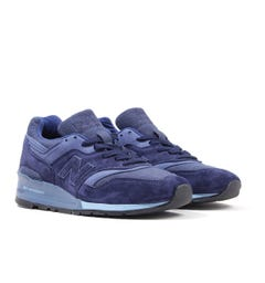 New Balance 997 Made in the USA Suede Trainers - Blue