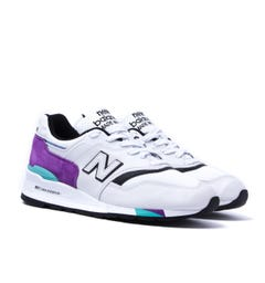 New Balance 997 Made in the USA White & Purple Trainers