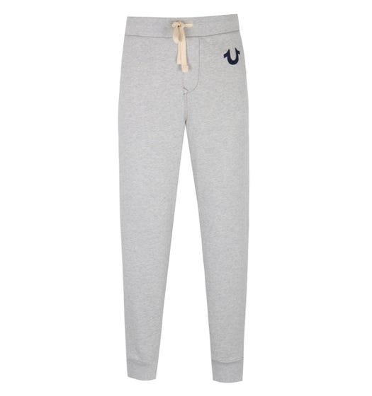True Religion Classic Horseshoe Logo Oatmeal Marl Sweatpants