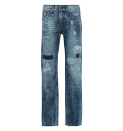 True Religion Ricky Super T Straight Fit Blue Jeans