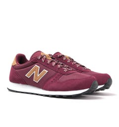 New Balance ML311 Bordeaux Red Suede Trainers