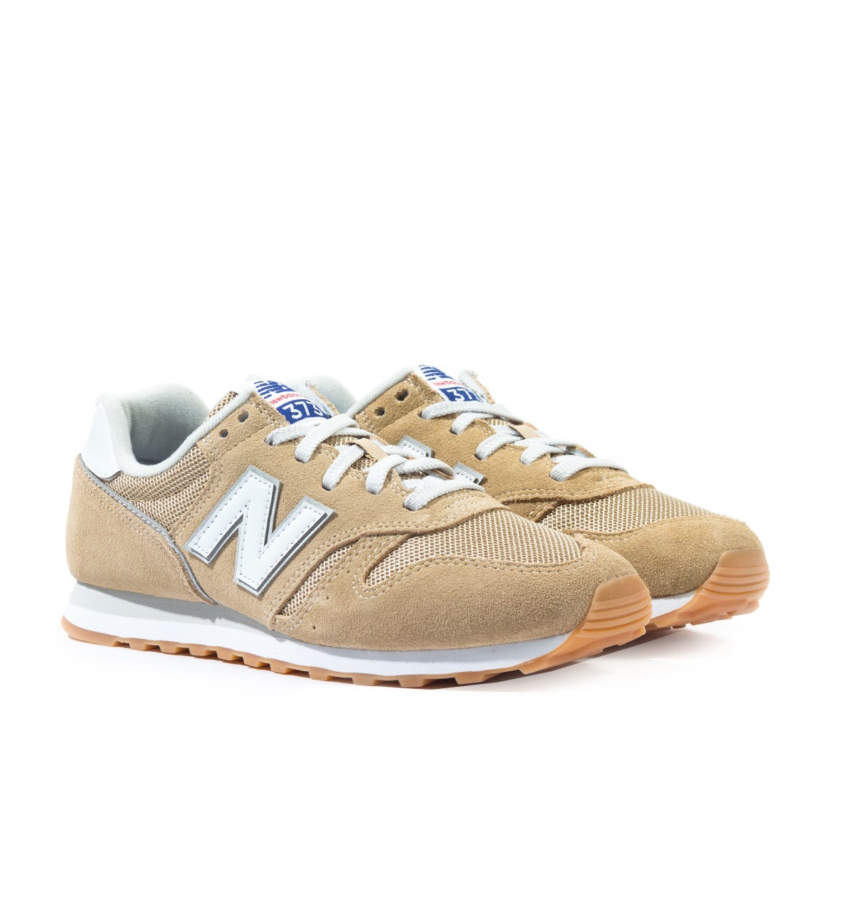 New Balance 373 Nude Suede Trainers
