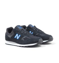 New Balance 393 Black Suede Trainers