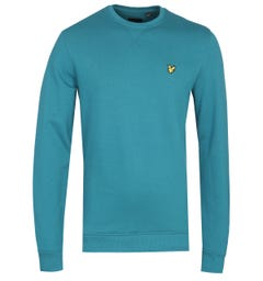Lyle & Scott Teal Crew Neck Sweatshirt