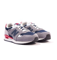 New Balance 570 Suede & Mesh Trainers - Grey & Navy