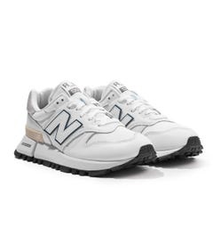 New Balance RC 1300 Leather & Mesh Trainers - White
