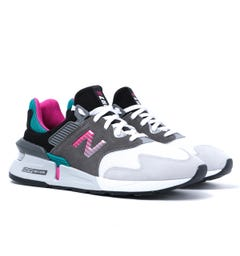 New Balance 997 Castlerock with Amazonite Suede Mesh Trainers