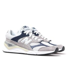 New Balance X-90 Light Grey Suede Trainers
