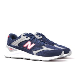 New Balance X-90 Navy & Red Detail Suede Trainers