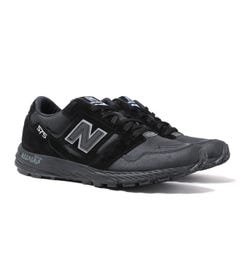 New Balance Trail 575 Made In England Black Suede & Mesh Trainers