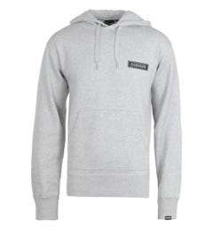 Napapijri B-Patch Light Grey Hooded Sweatshirt