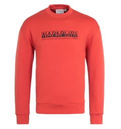 Napapijri Oodi Orange Crew Neck Sweatshirt