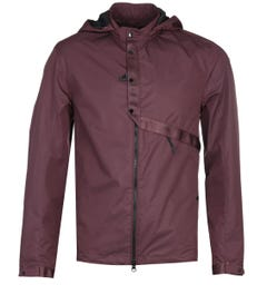 CP Company Soft Shell Burgundy Hooded Jacket
