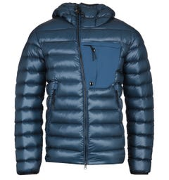 CP Company High-Shine Down Padded Blue Goggle Jacket