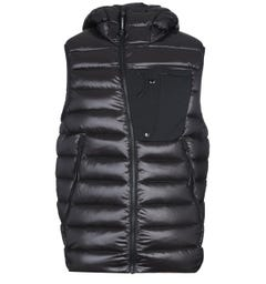 CP Company Down Padded Black Goggle Gilet