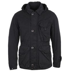 CP Company 50 Fili Detachable Hood Black Jacket