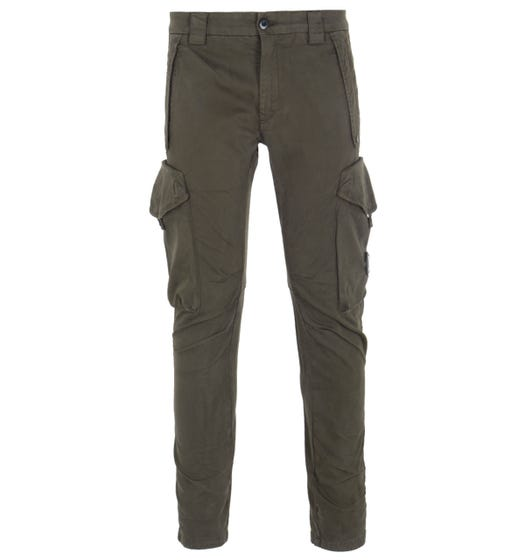 CP Company Garment Dyed Dark Olive Cargo Pants
